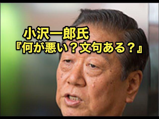 政党の選挙協力『何が悪い?文句ある?』小沢一郎氏