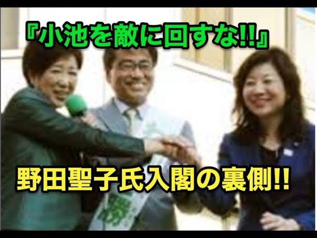 安倍総理の天敵のはずが・・『小池を敵に回すな!!』野田聖子氏入閣の裏側!!