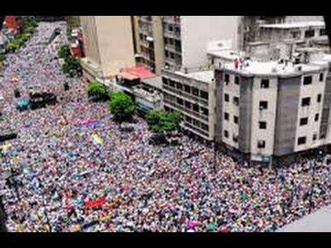 経済不安のベネズエラ・・!!首都で大規模デモ・・・治安部隊と衝突・・・?!