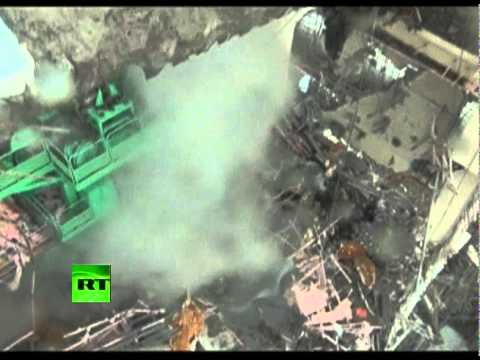 Latest super close-up footage of Fukushima wrecked nuclear reactor