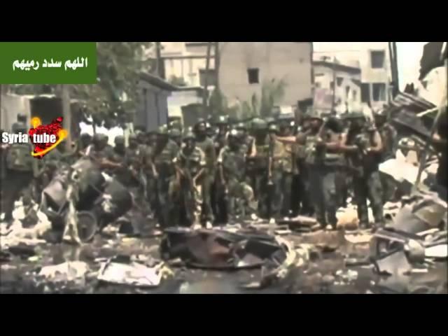 自由シリア軍(外国人テロリスト)と勇敢に戦うアサド政府軍 #syria #assad