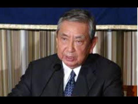 河野洋平・元衆議院議長・・安倍首相を呼び捨てにして・・痛烈!猛批判!!