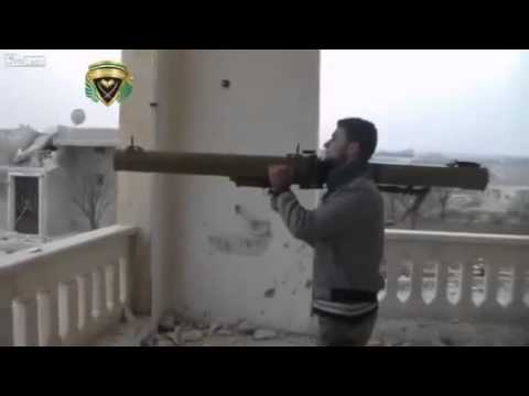 1873 紛争地シリア 改造したRPG 29の危険な発射映像