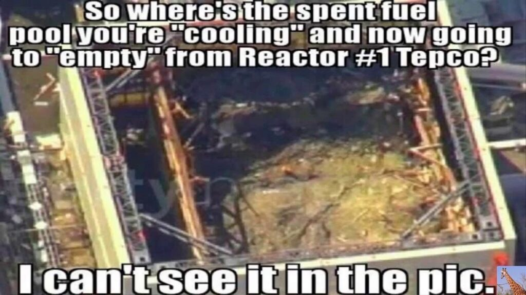 Fukushima SFP#1 GONE After Uncovering Reactor?